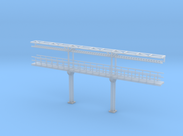 N Scale Tank Car loading Platform 3 center in Smooth Fine Detail Plastic