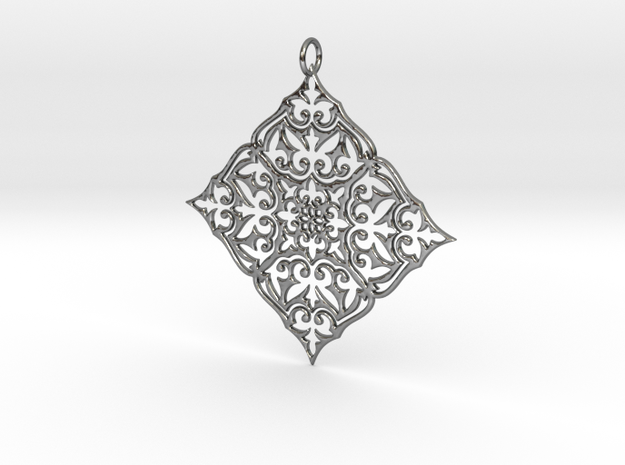 MARIBESQUES Pendant in Fine Detail Polished Silver