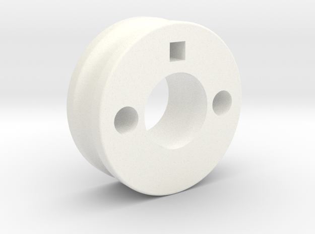 thumb_pulley_mp in White Processed Versatile Plastic