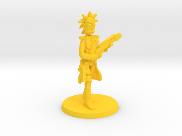 Military Mick in Yellow Processed Versatile Plastic