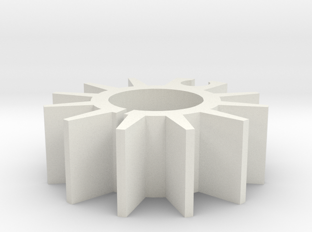 THE HEATSINK in White Natural Versatile Plastic