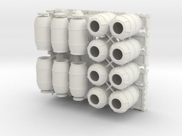 DeAgo Falcon 1/43 Cargo Barrels Boxes & crates in White Premium Versatile Plastic