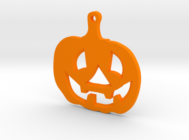 Halloween emblem in Orange Processed Versatile Plastic