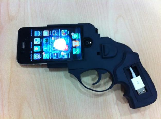 iPhone 4 Ruger in White Natural Versatile Plastic
