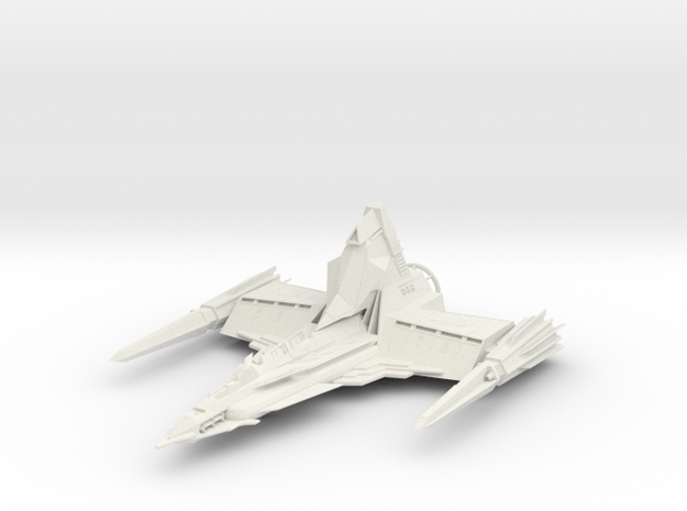 Draconian Marauder From Buck Rogers big in White Natural Versatile Plastic