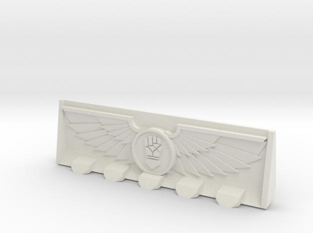 Devotional Gauntlet (Right) Bulldozer Blade in White Natural Versatile Plastic
