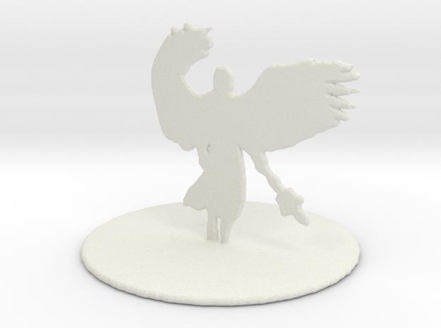 Deva (Angel) in White Natural Versatile Plastic