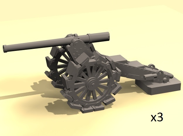 1/220 De Bange 155mm cannon with shoes in Smooth Fine Detail Plastic