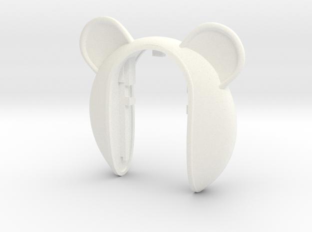 BIG PANDA #39 KEY FOB in White Processed Versatile Plastic