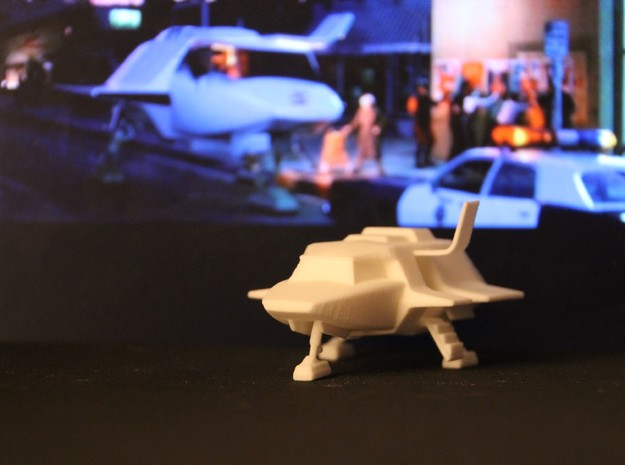Skyfighter - Door Open (V, The Visitors) in White Natural Versatile Plastic: 1:72