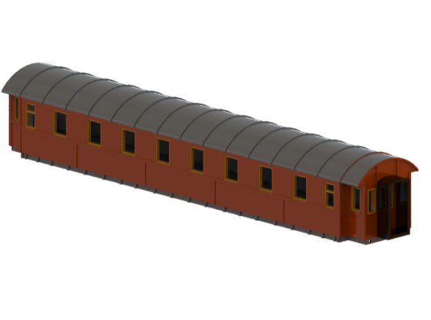 Co4b version 1 - Swedish passenger wagon in Frosted Ultra Detail