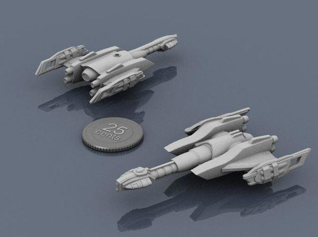 Ngaksu Cyclone 3d printed Renders of the model, with a virtual quarter for scale.