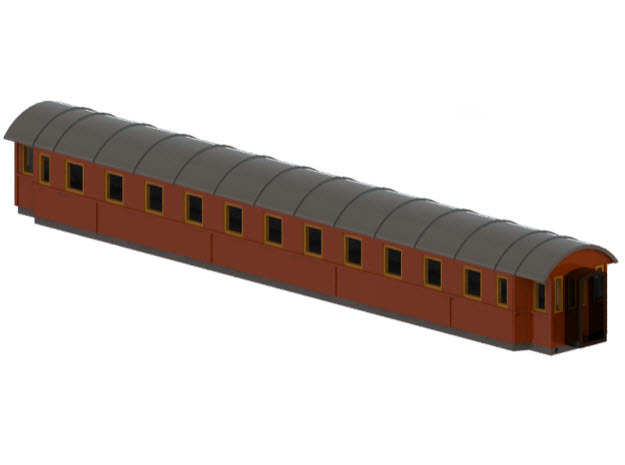 Co4c - Swedish passenger wagon in Frosted Ultra Detail