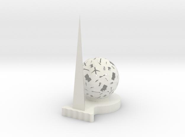 "Q-08: ""Fluid Frontiers"" by Studio Meem in White Natural Versatile Plastic"