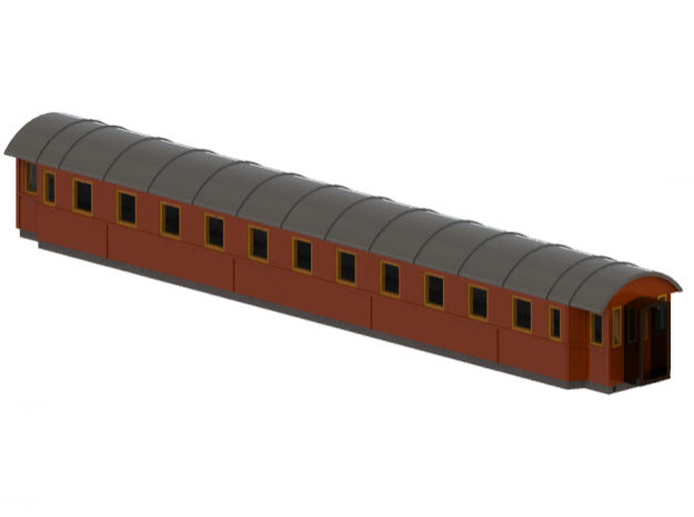 Co9b - Swedish passenger wagon in Frosted Ultra Detail