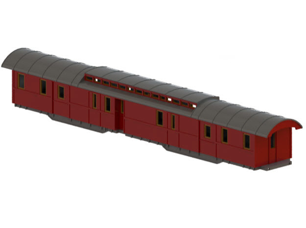 DFo6 - Swedish passenger wagon in Frosted Ultra Detail