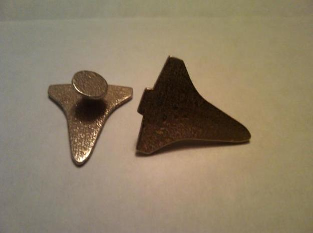 Space Shuttle Orbiter Cuff Link - Right 3d printed Stainless Steel Example