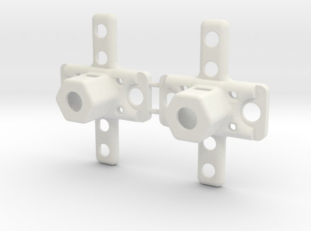 1 Set of 2 truck pivots in White Strong & Flexible