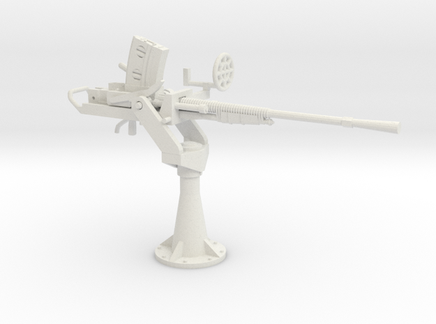 1/48 IJN Type 96 25mm Single Mount in White Strong & Flexible