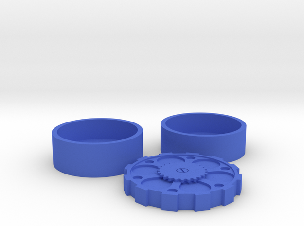 Steam Punk Set USA Half Dollar in Blue Processed Versatile Plastic