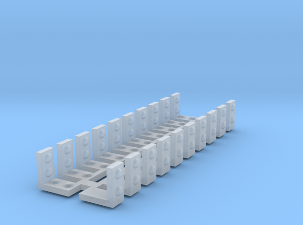 .125 x .125 x .0625 rivet bracket combo in Smooth Fine Detail Plastic