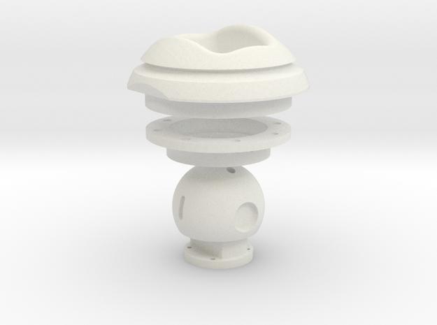 Kugelblende 100+Widerlager+Kugel in White Natural Versatile Plastic