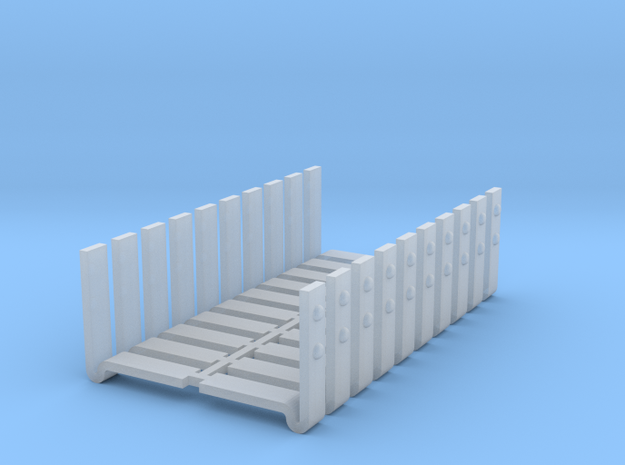D&RGW style boxcar corner braces v1 in Smooth Fine Detail Plastic
