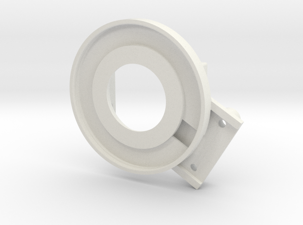 rampage_encoder_mount_right_back in White Strong & Flexible