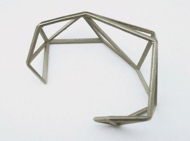 Comion open barcelet 3d printed comion steel bracelet