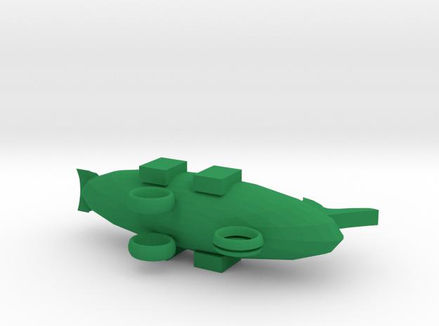Airplane in Green Processed Versatile Plastic