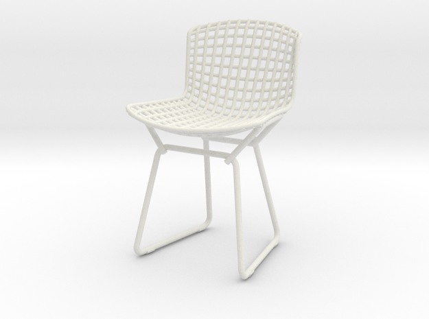 Knoll Bertoia Side Chair Frame 1:12  Scale in White Natural Versatile Plastic