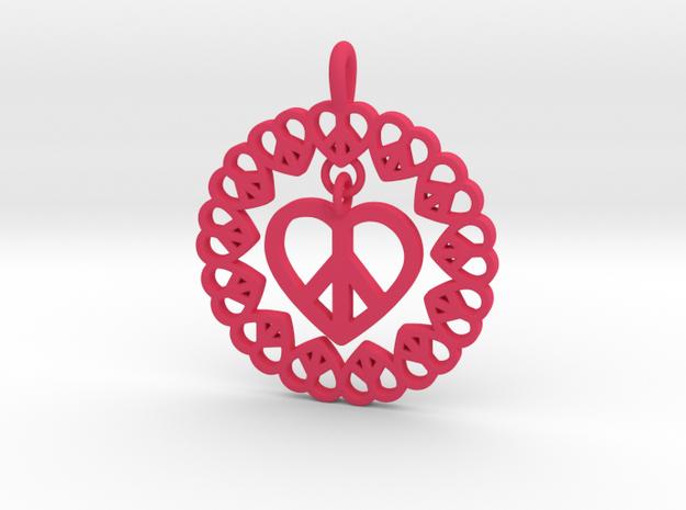 20-Pretzel Heart Loops in Pink Processed Versatile Plastic: Small