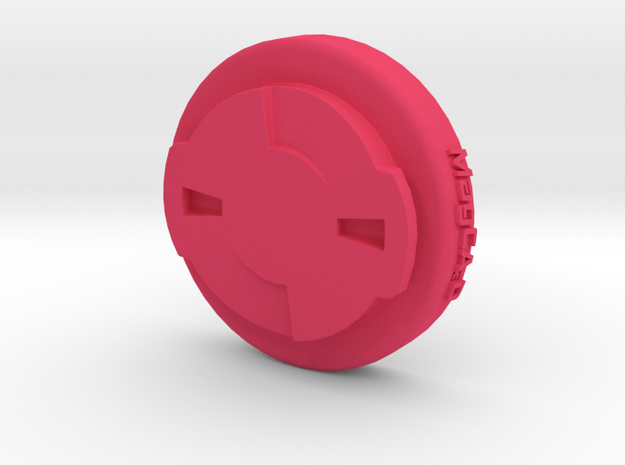 Garmin Edge to Wahoo Elemnt Adaptor Mount in Pink Processed Versatile Plastic