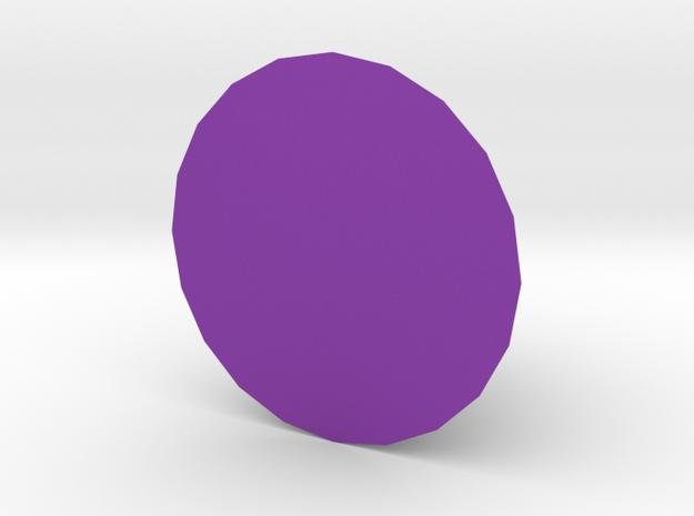 Cone in Purple Processed Versatile Plastic