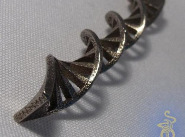 DNA Pendant in 3D printed stainless steel 3d printed 4