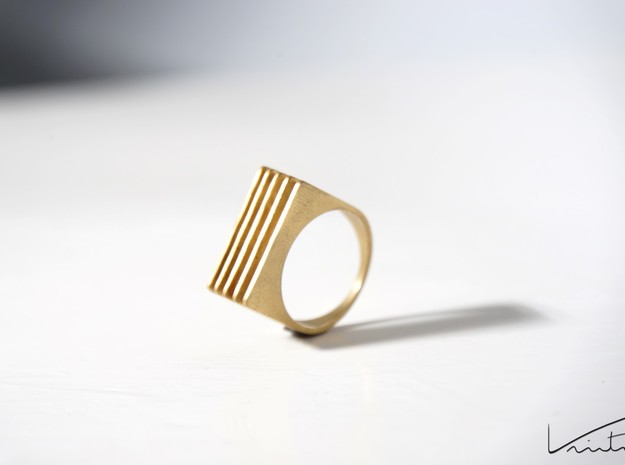 Array Ring in Natural Brass: 9 / 59