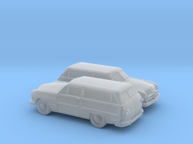 1/120 2X 1949 Ford Custom Station Wagon in Smooth Fine Detail Plastic