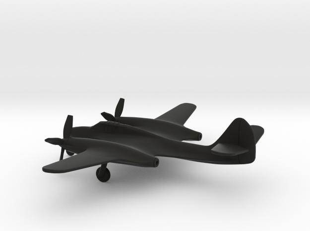 McDonnell XP-67 Moonbat in Black Natural Versatile Plastic: 1:200