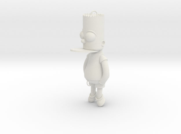 Bart Simpson Bait in White Natural Versatile Plastic