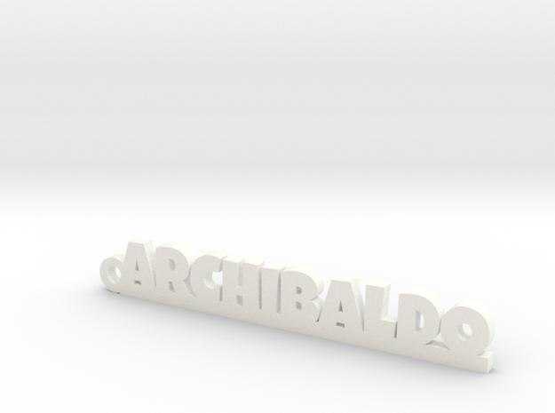 ARCHIBALDO_keychain_Lucky in White Processed Versatile Plastic