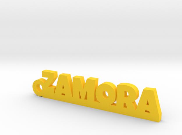 ZAMORA_keychain_Lucky in Yellow Processed Versatile Plastic