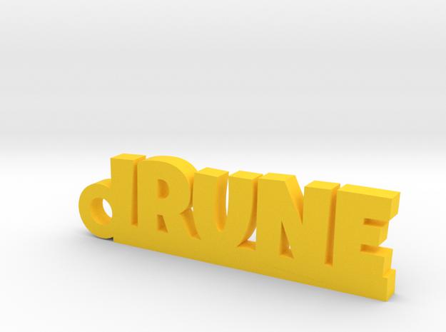 IRUNE_keychain_Lucky in Yellow Processed Versatile Plastic