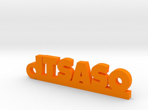 ITSASO_keychain_Lucky in Orange Processed Versatile Plastic