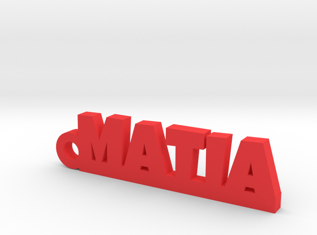 MATIA_keychain_Lucky in Red Processed Versatile Plastic