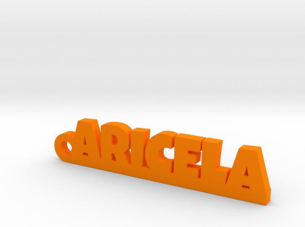 ARICELA_keychain_Lucky in Orange Processed Versatile Plastic