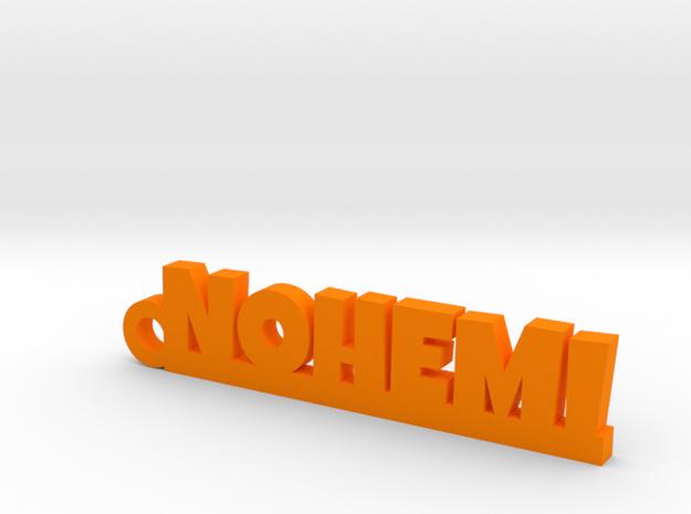 NOHEMI_keychain_Lucky in Orange Processed Versatile Plastic