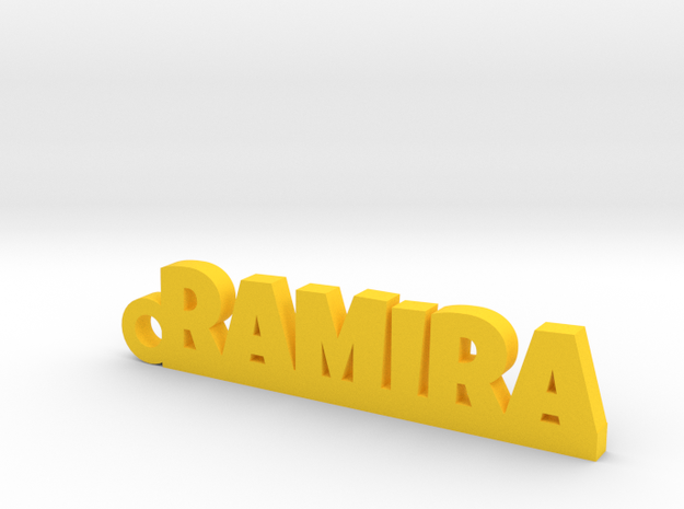 RAMIRA_keychain_Lucky in Yellow Processed Versatile Plastic