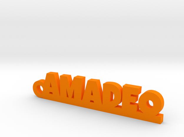 AMADEO_keychain_Lucky in Orange Processed Versatile Plastic