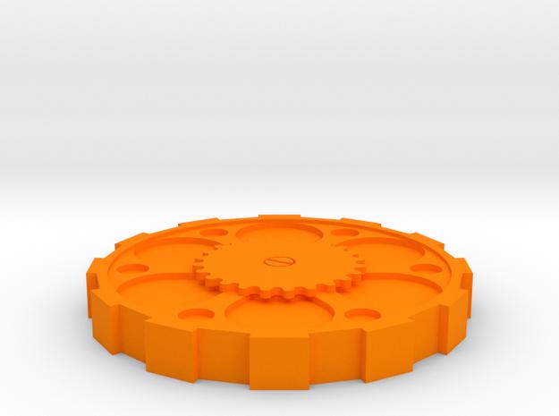 Steam Punk Lid USA Dollar in Orange Processed Versatile Plastic