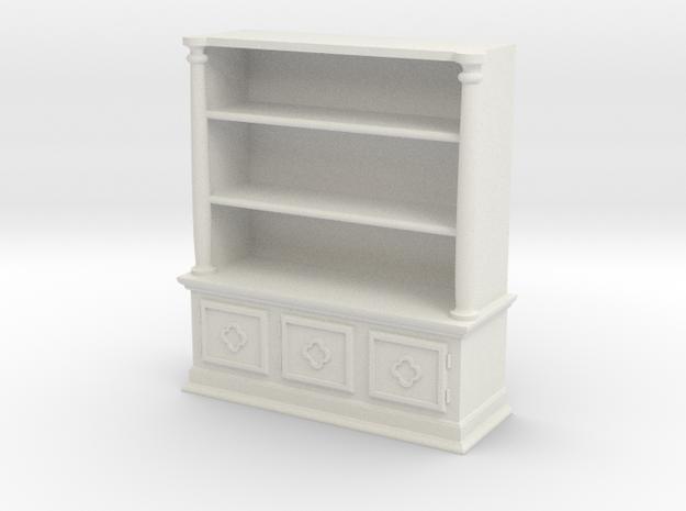 Bookshelf, Square - 1:48 in White Natural Versatile Plastic